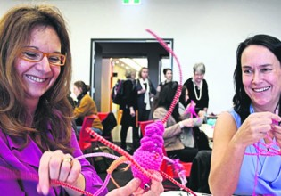 Neural Knitworkers enjoy the process of connection and discovery (Photo: Lyn Turnbull)