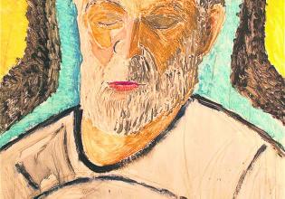 Portrait of Brian Vazey by Margaret Vazey (Photo: Andrew Collis)