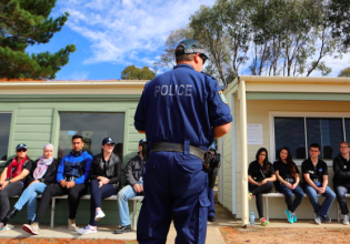 CAPP participants experience police work first-hand (Photo: Courtesy NSW Police)