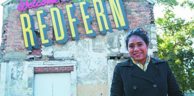 Natasha Sitanala in Redfern. Photo: Claire Mahjoub