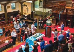 Interfaith prayers at Pitt Street Uniting Church Photo: Bec Lewis