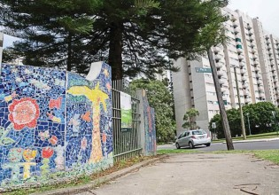 A good example of community development and creativity; a symbol of proud, dynamic community - the mosaic mural on the wall outside the Cook Community Garden on the corner of Raglan and Pitt Streets. Image: Claire Mahjoub