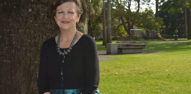 Deputy Lord Mayor Irene Doutney in Redfern Park Photo: Kat Hines