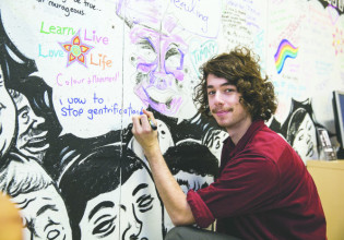 Hamilton, currently in placement at NNC, makes his vow  Photo: Bec Lewis