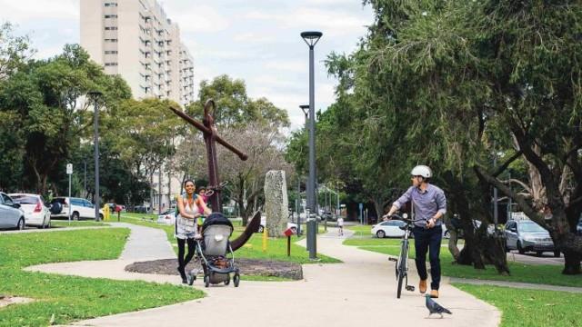 Walk your bicycle through Waterloo Green Photo: Bec Lewis
