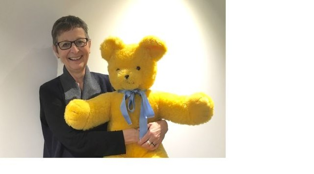 Cathie Harrison with Big Ted Photo: Supplied