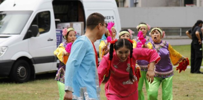 TDong Bei Cultural Dancing Group. Photo: Ashley Asphodel