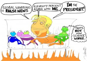 Boiling frogs Cartoon: norrie mAy welby