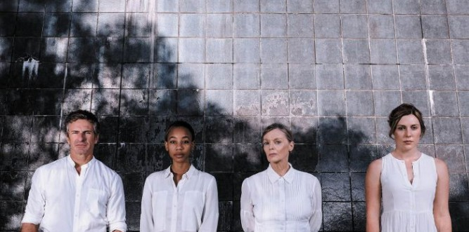 Damian de Montemas, Charmaine Bingwa, Belinda Giblin and Matilda Ridgway Photo: Robert Catto
