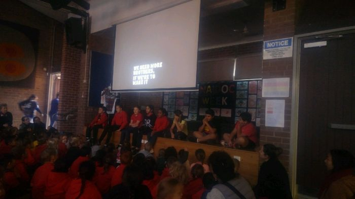 Darlington Public School NAIDOC Week assembly Photo: supplied
