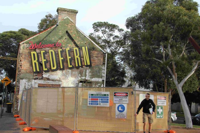 Structural repairs to Redfern Terrace Photo: Lyn Turnbull