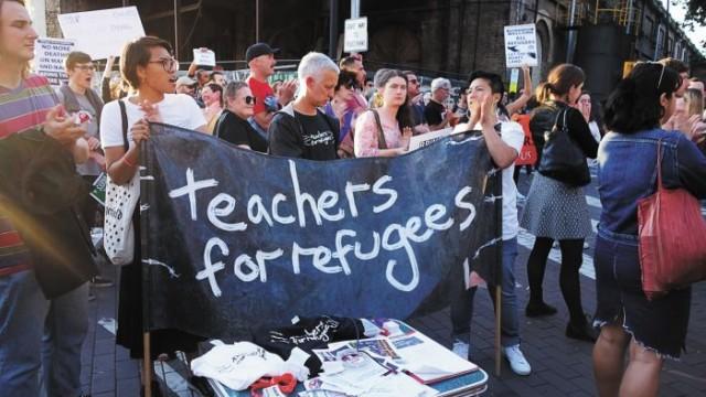 Teachers for Refugees at the ATP in Redfern Photo: Suganthi Singarayar