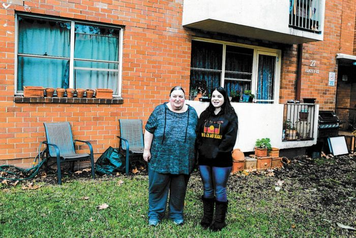 Jude and Sorcha before the garden was built. Photo: Fiona Poeder