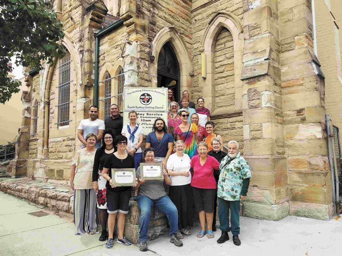 Representatives of South Sydney Uniting Church.  Photo: Jessica Morthorpe