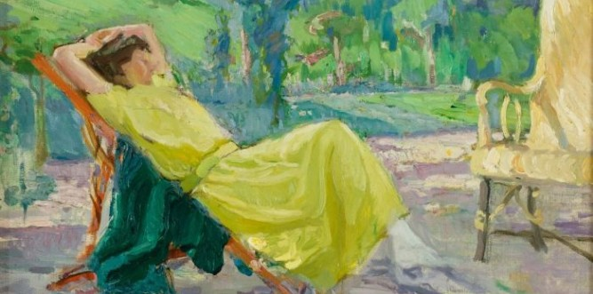 Bessie Davidson, La robe jaune, 1931, oil on canvas (Private Collection, Sydney)