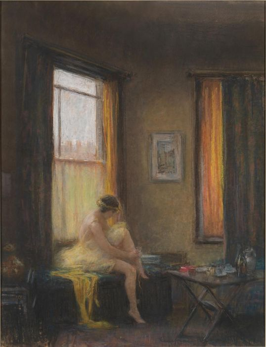 Janet Cumbrae Stewart, Studio fairy, (1920s), pastel (Collection: National Gallery of Victoria, Melbourne, Felton Bequest 1930)