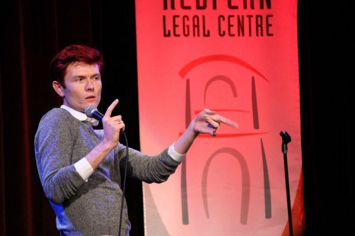 Rhys Nicholson performs for RLC. Photo: Lyn Turnbull