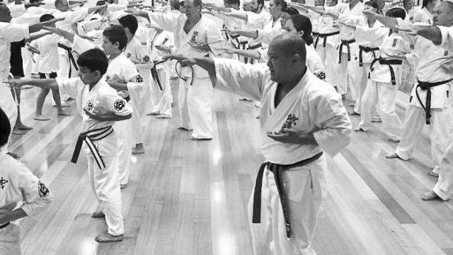 Kigami Biraki ceremony at the dojo Photo: Sean Beehan