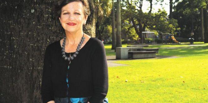 Irene Doutney in Redfern Park. Photo: Kat Hines