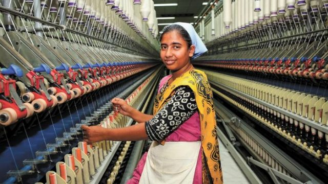 A textiles factory worker in Bangladesh. Photo: Supplied