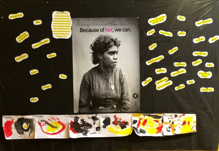 NAIDOC display at Wunanbiri Preschool in Alexandria. Photo: Tracey Freeburn