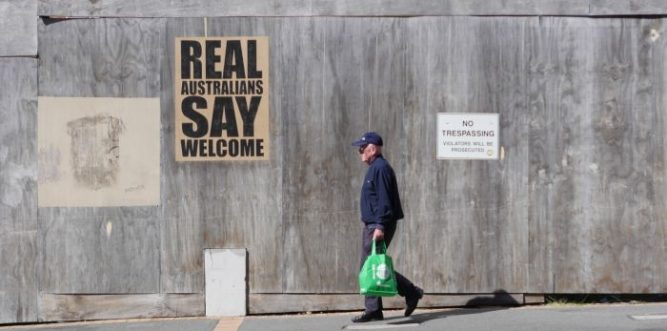 Poster campaign Real Australians Say Welcome. Photo: Supplied