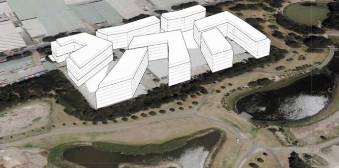 Image: Sydney Park incursion, showing development plan (Friends of Erskineville)