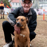 Marc Clarke with Dog. Photo: Sarah Rhodes, Lumina Collective (supplied by City of Sydney)