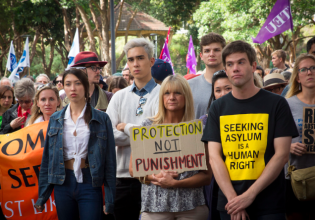 Rally for Refugees, Belmore Park, April 19 (Photo: Claire Majoub)