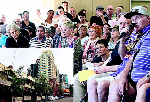 Concerned public housing tenants of Millers Point and The Rocks (Photo: Geoff Turnbull)